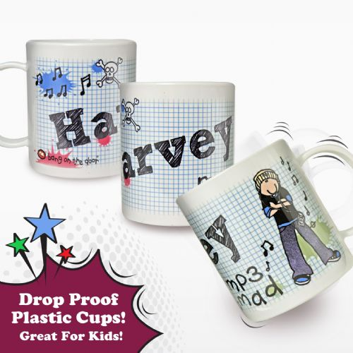 Personalised Bang on the Door MP3 Mad Plastic Cup